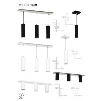 ALDEX 723E | Slim-I Aldex függeszték lámpa 3x GU10 fehér