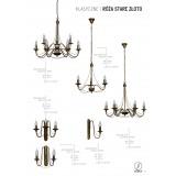 ALDEX 397E/26 | Roza_I Aldex csillár lámpa 3x E14 antikolt réz