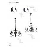ALDEX 825C1 | Atut Aldex zidna svjetiljka 1x E14 crno, crveni bakar