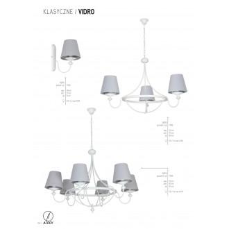 ALDEX 799E | Vidro Aldex luster svietidlo 3x E14 biela