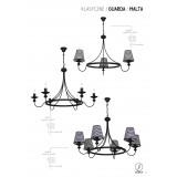 ALDEX 798E/1   Guarda Aldex luster svjetiljka 3x E14 crno, bijelo
