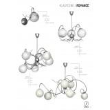 ALDEX 556K | RomanceA Aldex mennyezeti lámpa 6x E14 ezüst, fehér