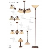 ALDEX 377E | HitA Aldex stropne svjetiljke svjetiljka 3x E27 antik crveni bakar, krem
