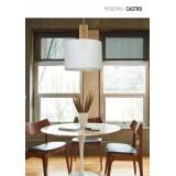 ALDEX 903G | Castro Aldex függeszték lámpa 1x E27 fehér, fa.