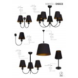 ALDEX 933D | Chocco Aldex falikar lámpa 2x E14 fekete, arany