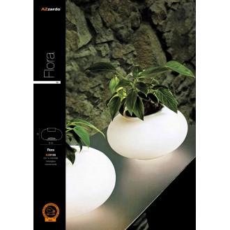 AZZARDO 0185 | Flora-AZ Azzardo asztali lámpa 24cm kapcsoló 1x E27 króm, fehér
