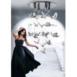 AZZARDO 2449 | Birds-AZ Azzardo függeszték lámpa 4x GU10 ezüst, kristály