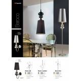 AZZARDO 0062 | Baroco Azzardo falikar lámpa 1x E14 fekete, antik