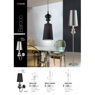 AZZARDO 0308 | Baroco Azzardo rameno stenové svietidlo 1x E14 strieborný