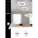 AZZARDO 2664   Donut-AZ Azzardo mennyezeti lámpa távirányító szabályozható fényerő 1x LED 6800lm 2700 <-> 6000K fehér