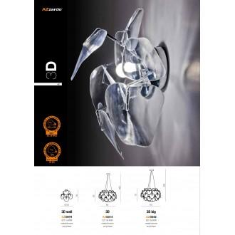 AZZARDO 0979 | 3D Azzardo stenové svietidlo 1x E27 chróm, priesvitné