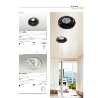 AZZARDO 2685 | Torres-AZ Azzardo beépíthető lámpa elforgatható fényforrás Ø155mm 155x155mm 1x GU10 / ES111 fekete