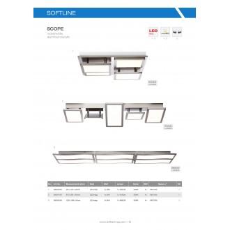 BRILLIANT G90340/68 | Scope-BRI Brilliant stropne svjetiljke svjetiljka elementi koji se mogu okretati 1x LED 5050lm 3000K poniklano mat