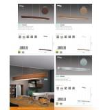 EGLO 93339 | Fornes Eglo visilica lampa 1x LED 1800lm 3000K srebrno, belo