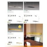 EGLO 93909 | Fornes Eglo visilica lampa 1x LED 1800lm 3000K nikel, crno