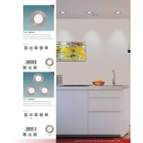 EGLO 94777 | Fueva-1 Eglo ugradna LED panel okrugli Ø85mm 3x LED 1080lm 4000K niklovan mat, belo