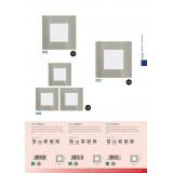EGLO 94735 | Fueva-1 Eglo ugradna LED panel četvrtast trodelni set 85x85mm 3x LED 900lm 3000K niklovan mat, belo