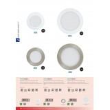 EGLO 94048 | Fueva-1 Eglo ugradna LED panel okrugli jačina svetlosti se može podešavati Ø120mm 1x LED 600lm 3000K belo