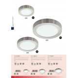EGLO 94523 | Fueva-1 Eglo zidna, plafonjere LED panel okrugli 1x LED 1200lm 3000K niklovan mat, opal