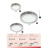 EGLO 32442 | Fueva-1 Eglo zidna, plafonjere LED panel okrugli 1x LED 2080lm 4000K niklovan mat, opal