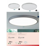 EGLO 97267 | Fueva-1 Eglo plafonjere LED panel okrugli 1x LED 2500lm 4000K srebrno, belo