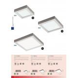 EGLO 94528 | Fueva-1 Eglo zidna, plafonjere LED panel četvrtast 1x LED 2600lm 3000K niklovan mat, belo