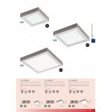 EGLO 32445 | Fueva-1 Eglo zidna, plafonjere LED panel četvrtast 1x LED 2080lm 4000K niklovan mat, belo