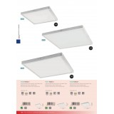 EGLO 97282 | Fueva-1 Eglo plafonjere LED panel četvrtast jačina svetlosti se može podešavati 1x LED 3200lm 3000K belo