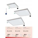 EGLO 97274 | Fueva-1 Eglo plafonjere LED panel četvrtast jačina svetlosti se može podešavati 1x LED 2700lm 3000K srebrno, belo
