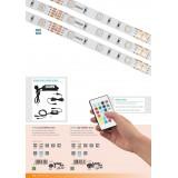 EGLO 97931 | Led-Stripes-Flex Eglo LED traka lampa daljinski upravljač sa utičnicom 1x LED 1000lm RGBK IP44 providno