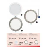 EGLO 94066 | Fueva-1 Eglo ugradna LED panel okrugli Ø225mm 1x LED 2080lm 4000K belo
