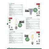 EGLO 11541   GU10 5W -> 65W Eglo spot LED izvori svjetlosti Step Dim. 400lm 3000K jačina svjetlosti se može podešavati s impulsnim prekidačem 30° CRI>80