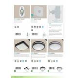 EGLO 97237 | EGLO-Connect-Locana Eglo zidna, plafonjere smart rasveta okrugli jačina svetlosti se može podešavati 1x LED 1400lm 3000K IP44 antracit, belo