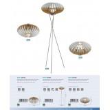 EGLO 96965 | Sotos Eglo stona lampa 19cm sa prekidačem na kablu 1x E27 niklovan mat, braon, belo