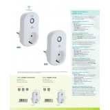 EGLO 97476 | Eglo kontrolna jedinica Plug smart rasveta sa prekidačem sa utičnicom, Bluetooth belo