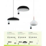 EGLO 96997 | EGLO-Connect-Moneva Eglo visilica smart rasveta jačina svetlosti se može podešavati, promenjive boje 1x LED 3400lm 2700 <-> 6500K crno, belo