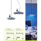 EGLO 96979 | EGLO-Connect-Moneva Eglo visilica smart rasveta jačina svetlosti se može podešavati, promenjive boje 1x LED 3400lm 2700 <-> 6500K crno, belo