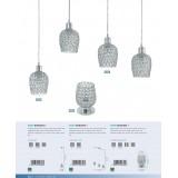 EGLO 94899 | Bonares-1 Eglo stona lampa 19cm sa prekidačem na kablu 1x E27 krom, providno