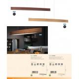 EGLO 93342 | Fornes Eglo visilica lampa 1x LED 1800lm 3000K boja hrastovine, belo