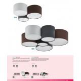EGLO 97838 | Pastore Eglo stropne svjetiljke svjetiljka 6x E27 crno, bijelo, smeđe
