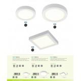EGLO 96672 | EGLO-Connect-Fueva Eglo fali, mennyezeti okos világítás négyzet szabályozható fényerő, állítható színhőmérséklet, színváltós 1x LED 2000lm 2700 <-> 6500K fehér