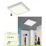 EGLO 96673 | EGLO-Connect-Fueva Eglo zidna, plafonjere smart rasveta četvrtast jačina svetlosti se može podešavati, sa podešavanjem temperature boje, promenjive boje 1x LED 2700lm 2700 <-> 6500K belo