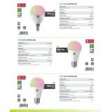 EGLO 11585 | E27 9W -> 60W Eglo obični A60 LED izvori svjetlosti smart rasvjeta 806lm 2700 <-> 6500K jačina svjetlosti se može podešavati, sa podešavanjem temperature boje, promjenjive boje daljinski upravljač CRI>80