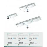 EGLO 94882 | Wasao-1 Eglo zidna, plafonjere lampa 2x LED 1020lm 3000K IP44 krom, belo