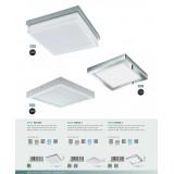 EGLO 96059 | Fueva-1 Eglo zidna, plafonjere LED panel četvrtast 1x LED 2600lm 3000K IP44 krom, belo