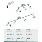 EGLO 94758   Gonaro Eglo spot lampa elementi koji se mogu okretati 3x LED 1080lm 3000K IP44 krom, belo