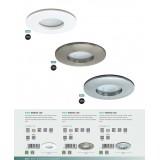 EGLO 97426 | Margo-LED Eglo ugradna lampa Ø82mm 1x LED 400lm 3000K IP65 niklovan mat, saten