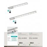 EGLO 96081 | Teya Eglo osvetlenje ploče lampa sa senzorom 1x LED 850lm 4000K srebrno, belo