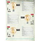 EGLO 11555 | E27 4W -> 30W Eglo normál A75 LED fényforrás filament 320lm 2200K 360° CRI>80