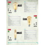 EGLO 11554 | E27 3,5W -> 22W Eglo henger T32 LED fényforrás filament 220lm 2200K 360° CRI>80